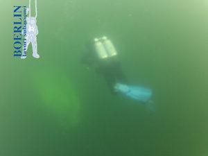 Bergung eines Segelboots in Gerra aus 12 m Tiefe