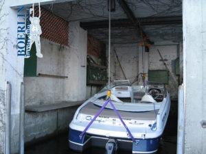 Rinforzo soffitto darsena e creazione impianto di sollevamento per barca
