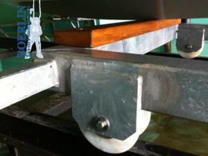 Konstruktion einer Rampe mit Slipbahnen für Boote von ca. 3000 kg.