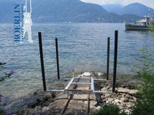 Bau eines Boots-Schleppwagens, Lago Maggiore.