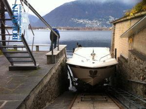 Konstruktion einer Rampe mit Slipbahnen für Boote von ca. 3500 kg