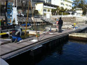 Sostituzione galleggianti porto Comunale di Brissago