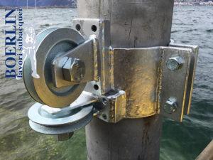 Elektrisch höhenverstellbar Bootssteg.