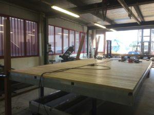 Privatsteg - Abriss des alten Steg, Einrammen im Grund von 4 Pfosten, Ausführung und Bau eines Bootsstegs in Gerra.