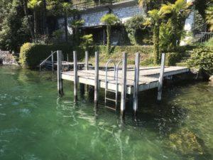Wartung Bootssteg - Einrammung von 2 Fundamentpfosten