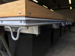 Bootsvermietung Ascona - Konstruktion eines massgeschneiderten Schwimmstegs