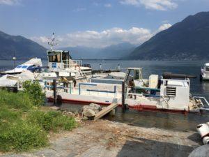 Bootsanlegestelle Lago Maggiore