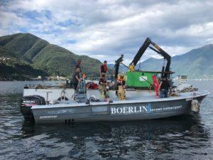 Recupero Boesch affondato a 175 metri di profondità