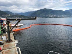 Recupero imbarcazione affondata
