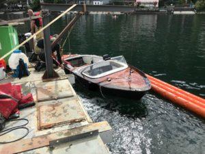 Boesch affondato a 175 metri di profondità ritorna in superficie!